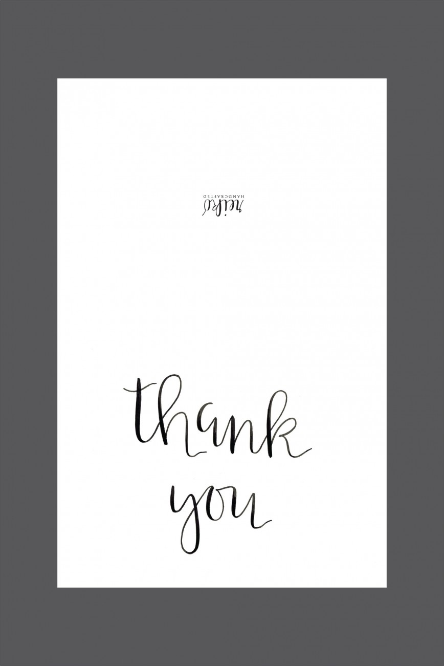 006 Shocking Thank You Note Template Free Printable Design 868