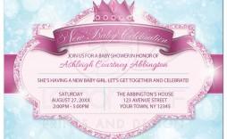006 Simple Baby Shower Invitation Girl Princes Sample  Princess Theme