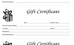 006 Simple Blank Gift Certificate Template Sample  Free Printable Downloadable