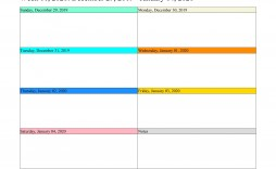 006 Simple Blank Weekly Calendar Template Idea  Word Microsoft 2019