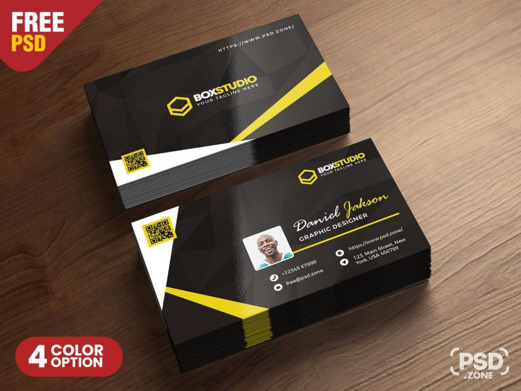 006 Simple Busines Card Template Psd Inspiration  Professional Photographer Freebie Visiting File Free DownloadLarge