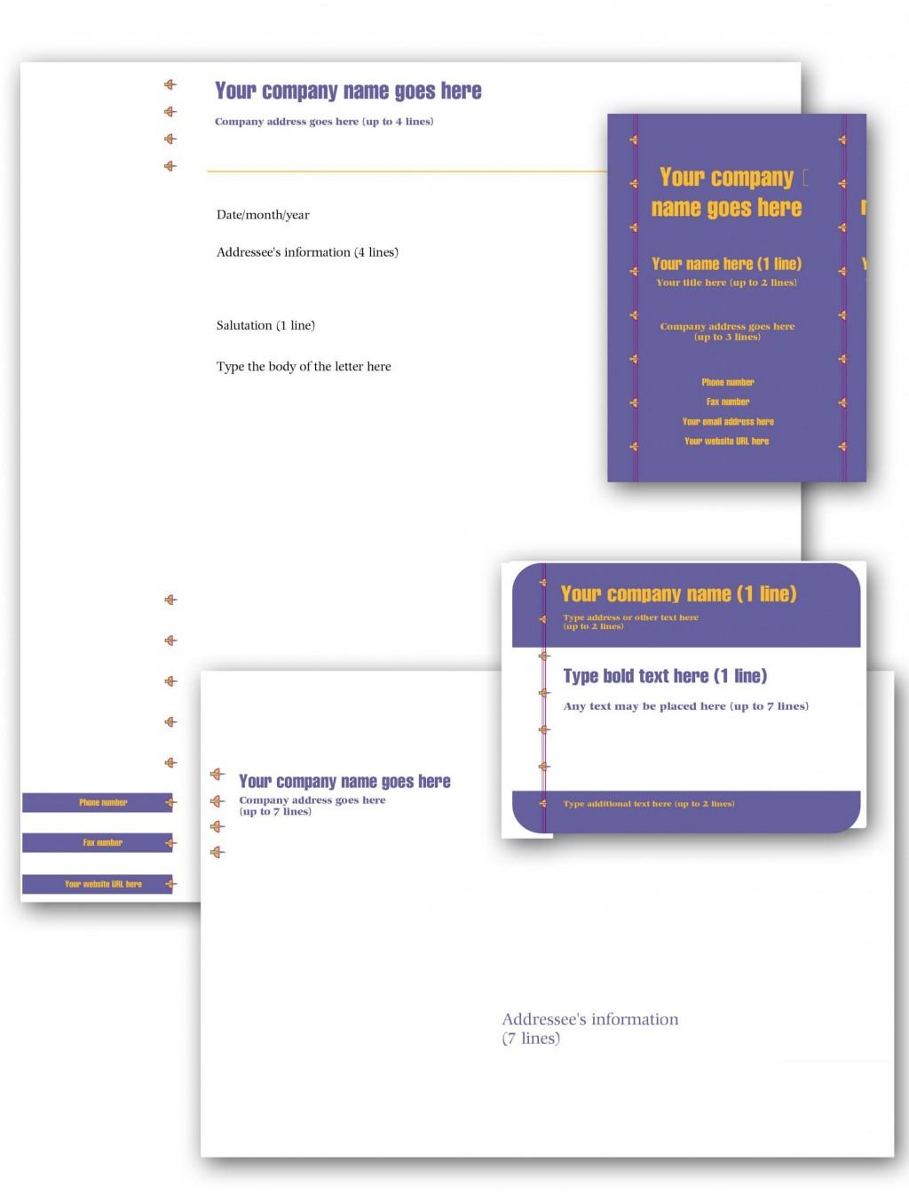 006 Simple Busines Postcard Template Microsoft Word Sample Large