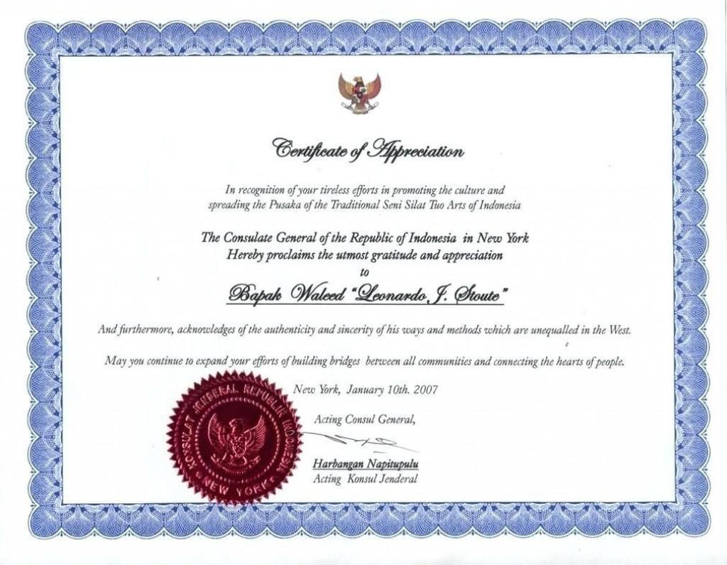 006 Simple Certificate Of Recognition Sample Wording Image  AwardLarge
