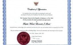 006 Simple Certificate Of Recognition Sample Wording Image  Award