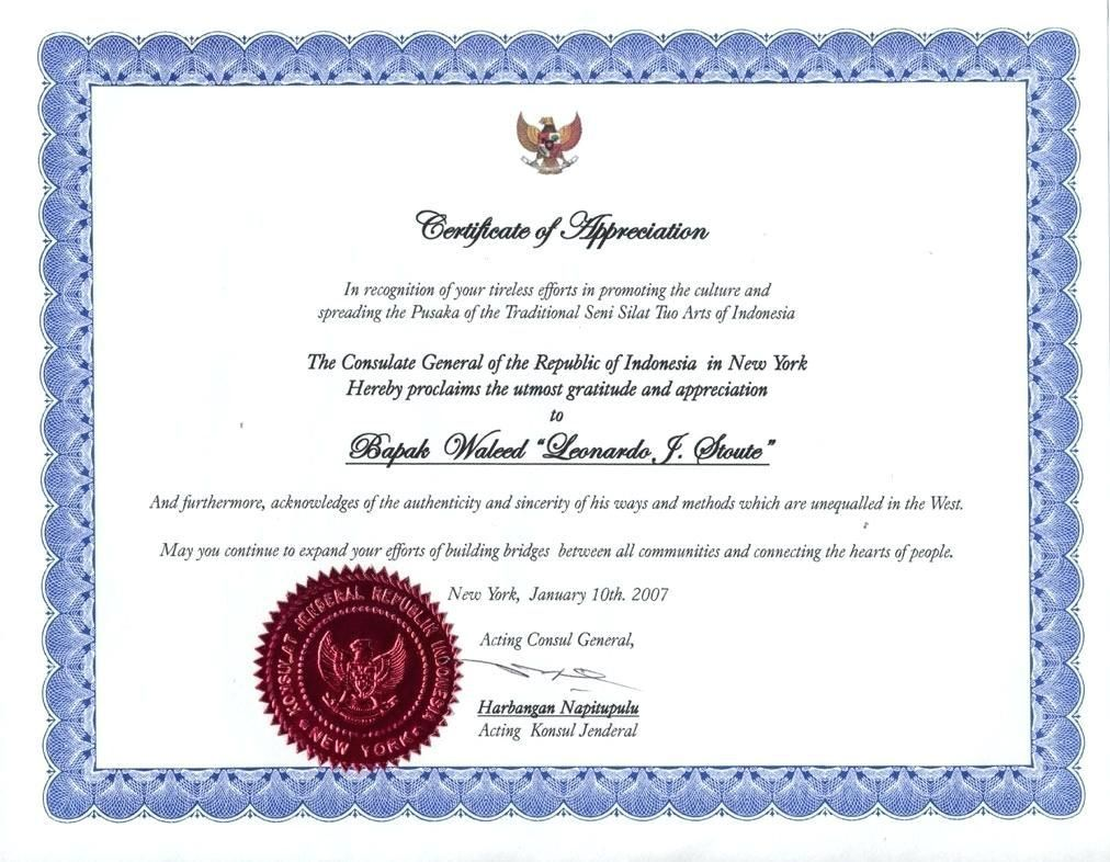006 Simple Certificate Of Recognition Sample Wording Image  AwardFull