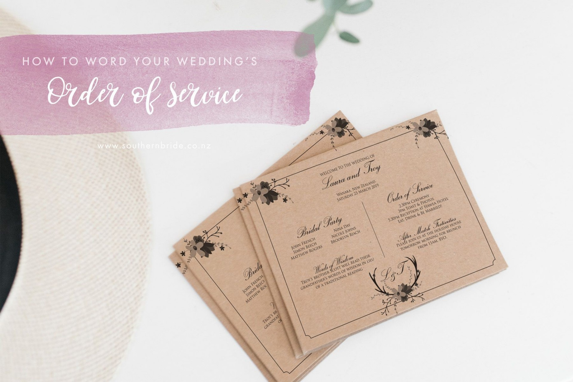 006 Simple Church Wedding Order Of Service Template Uk Photo 1920