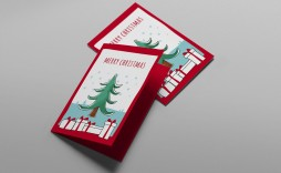006 Simple Free Download Holiday Card Template Photo  Templates