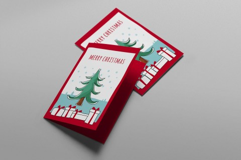 006 Simple Free Download Holiday Card Template Photo 480