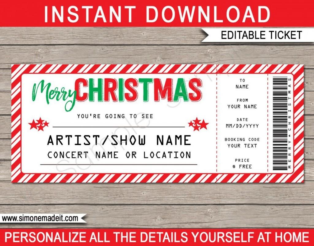 006 Simple Free Editable Concert Ticket Template Image  Psd WordLarge