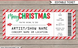 006 Simple Free Editable Concert Ticket Template Image  Psd Word