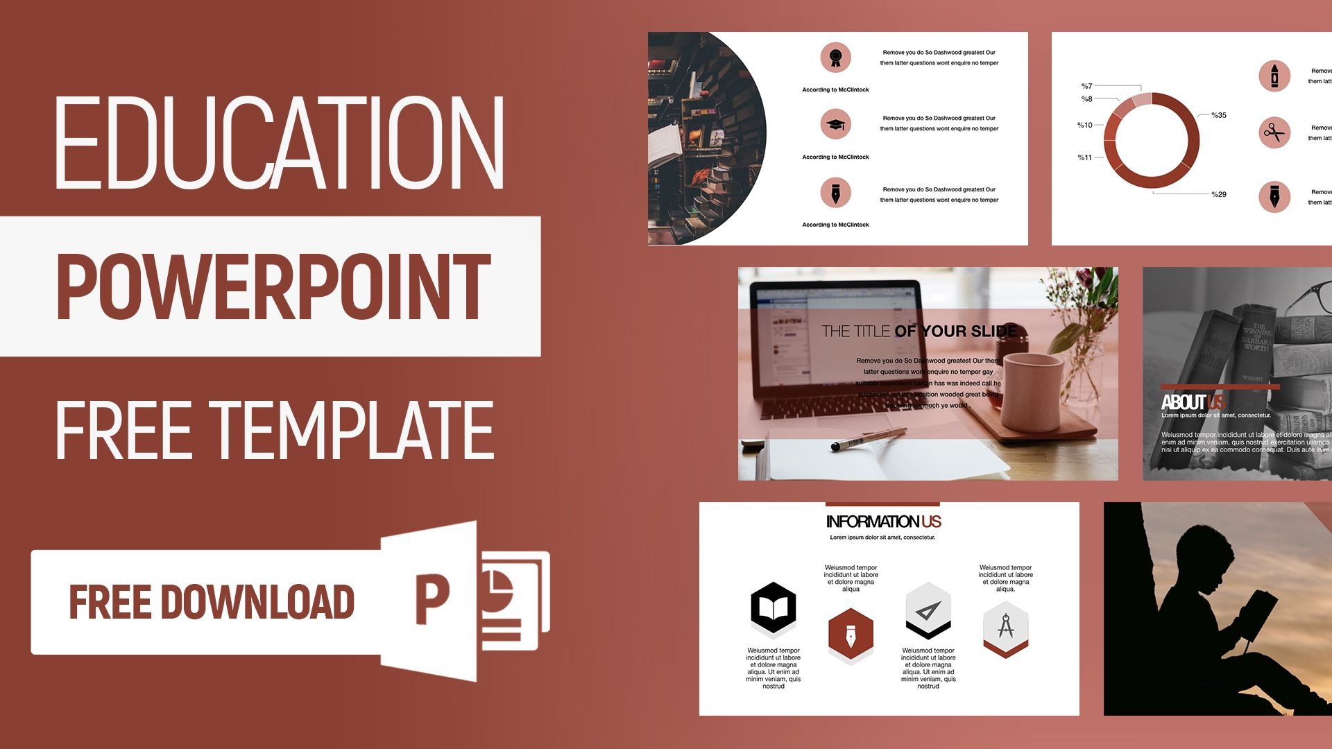 006 Simple Free Education Powerpoint Template Highest Quality  Templates Physical Download Downloadable For Teacher DesignFull