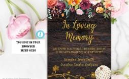 006 Simple In Loving Memory Template Image  Free Download Card Bookmark