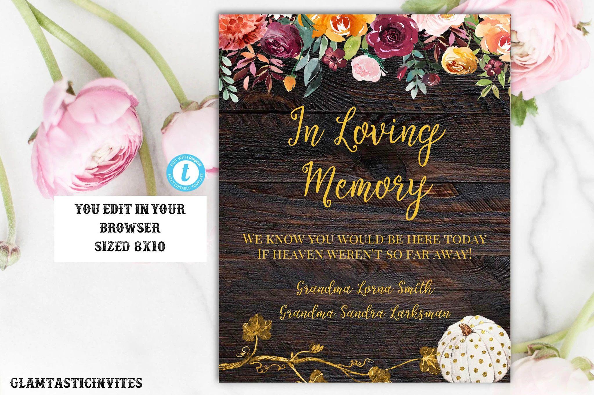 006 Simple In Loving Memory Template Image  Free Download Card BookmarkFull