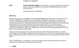 006 Simple Independent Consultant Contract Template Photo  Free Contractor Consulting Agreement South Africa