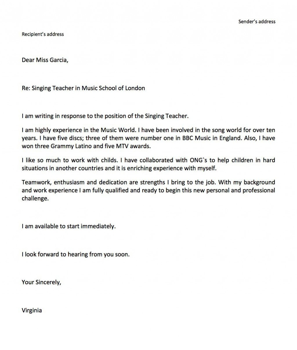 006 Simple Job Application Email Template Example  Formal For Opportunitie SubjectLarge