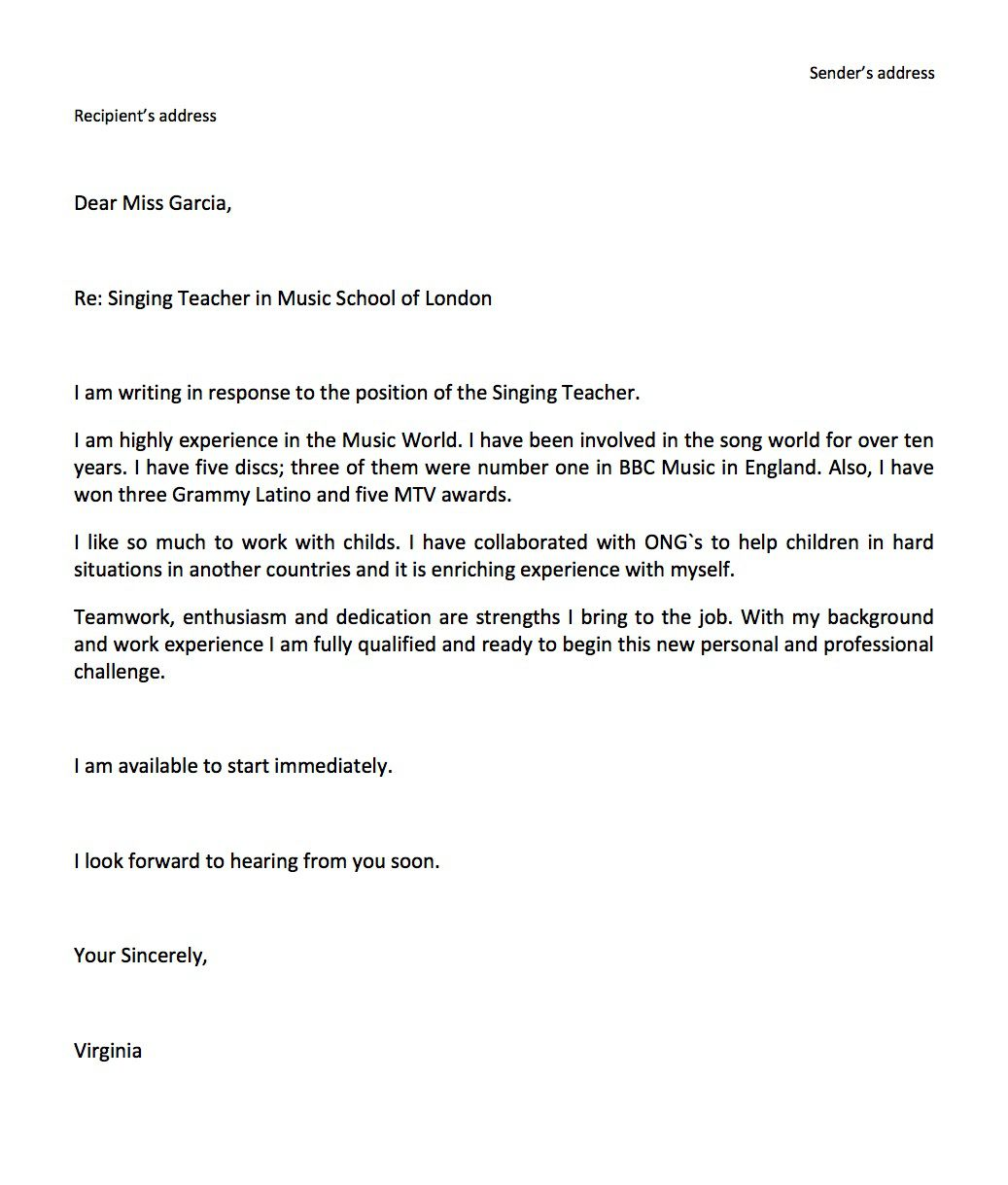006 Simple Job Application Email Template Example  Formal For Opportunitie SubjectFull