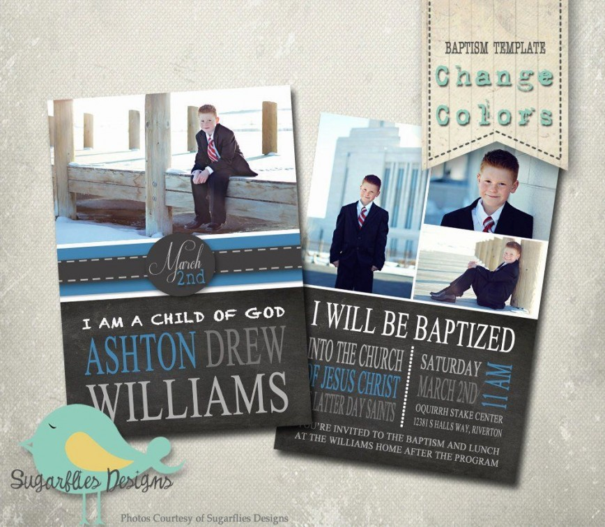 006 Simple Ld Baptism Invitation Template High Def