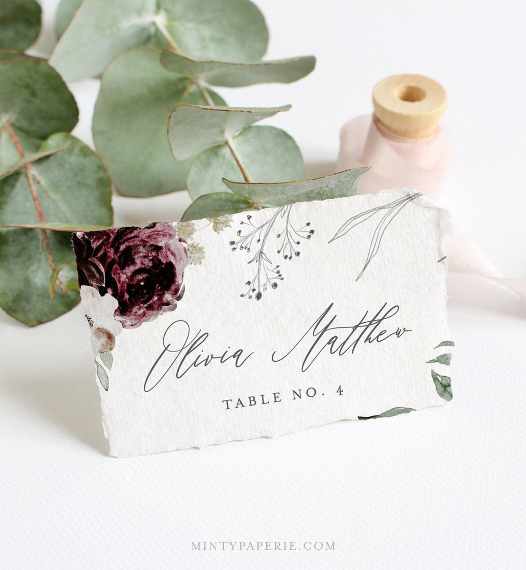 006 Simple Name Place Card Template For Wedding Inspiration  Free WordLarge