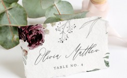 006 Simple Name Place Card Template For Wedding Inspiration  Free Word
