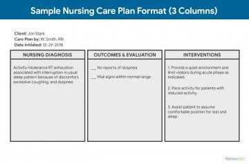 006 Simple Nursing Care Plan Template High Def  Free Pdf Download360