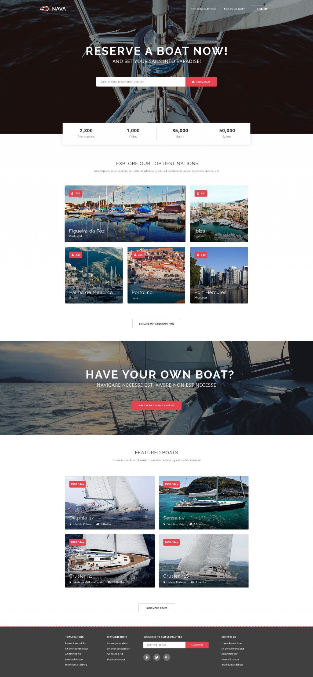 006 Simple One Page Website Template Free Download Html5 High Def  ParallaxLarge