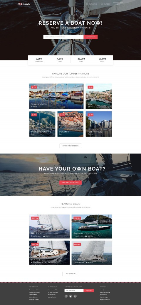 006 Simple One Page Website Template Free Download Html5 High Def  Parallax480