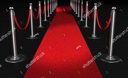 006 Simple Red Carpet Invitation Template Free High Definition  Download