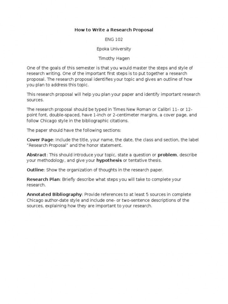 006 Simple Research Paper Proposal Example Chicago High Resolution 728