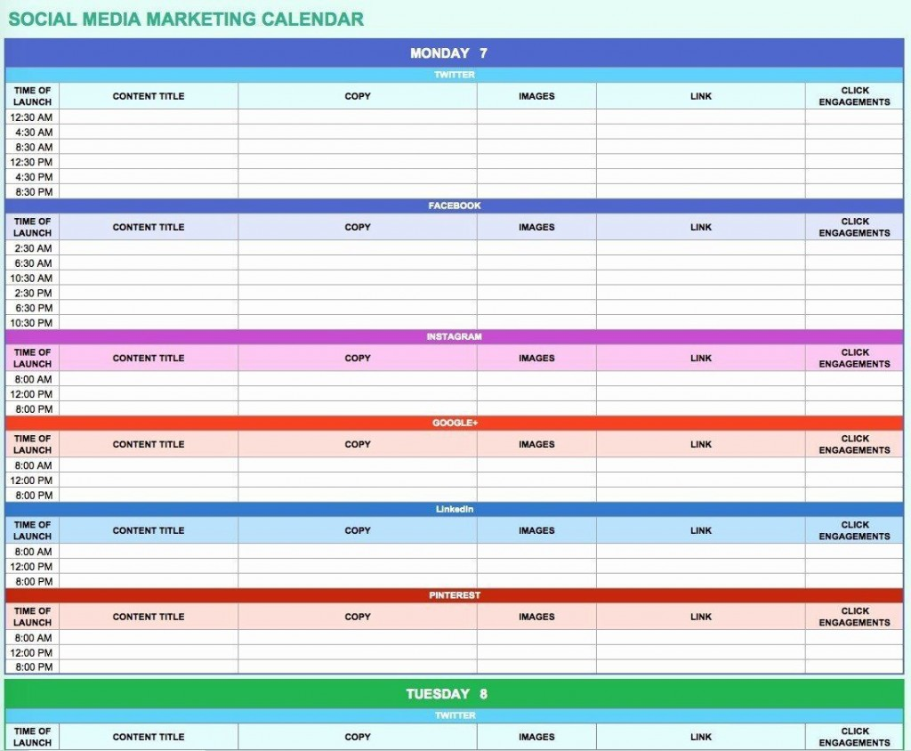 006 Simple Social Media Marketing Plan Template Doc Concept Large