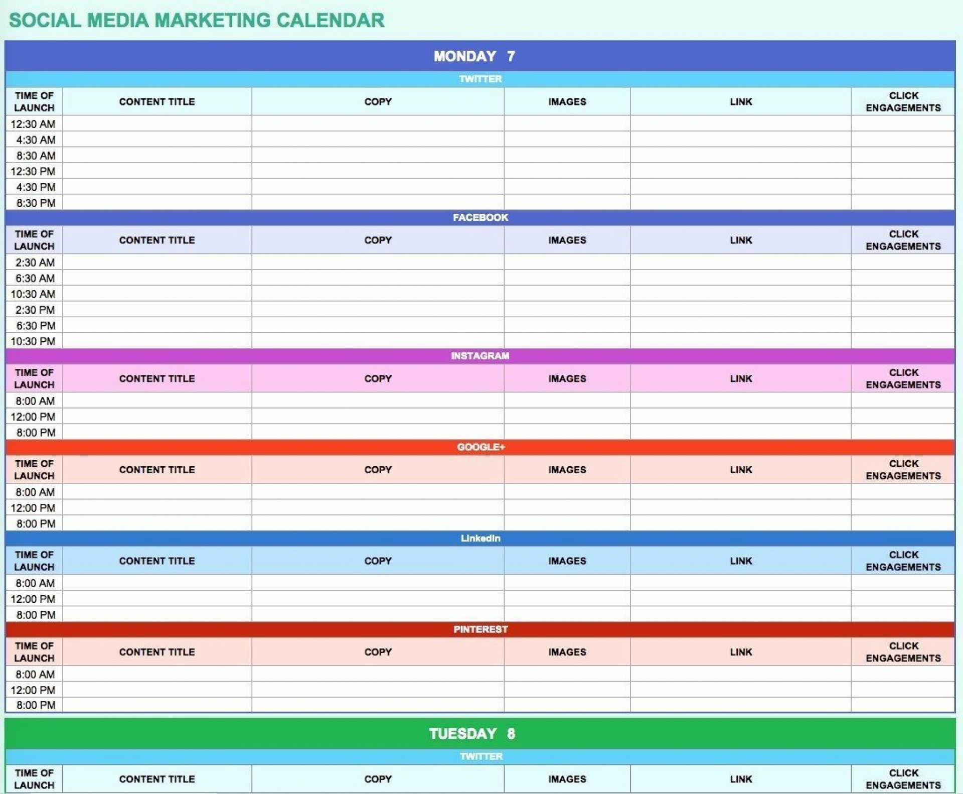 006 Simple Social Media Marketing Plan Template Doc Concept 1920