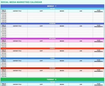 006 Simple Social Media Marketing Plan Template Doc Concept 360