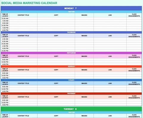 006 Simple Social Media Marketing Plan Template Doc Concept 480