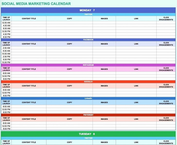 006 Simple Social Media Marketing Plan Template Doc Concept 728