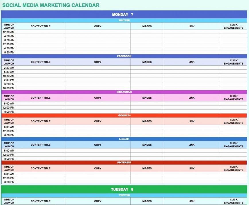 006 Simple Social Media Marketing Plan Template Doc Concept 868