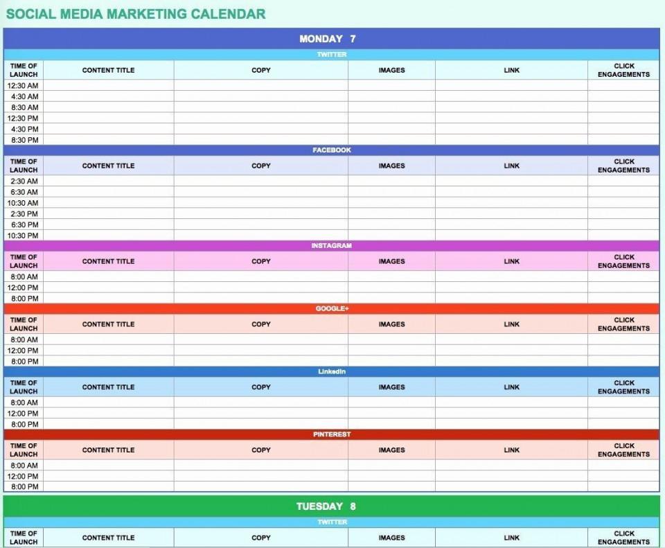 006 Simple Social Media Marketing Plan Template Doc Concept 960