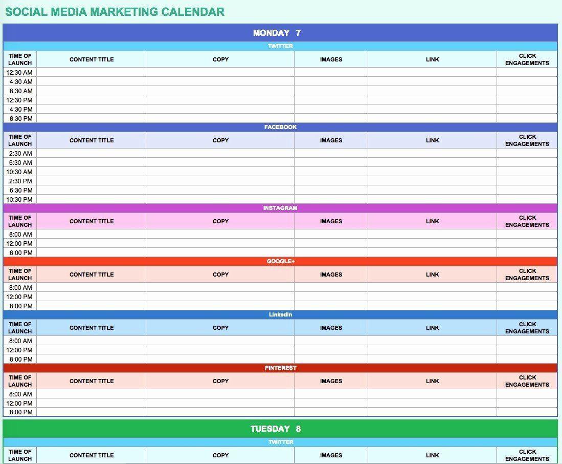 006 Simple Social Media Marketing Plan Template Doc Concept Full