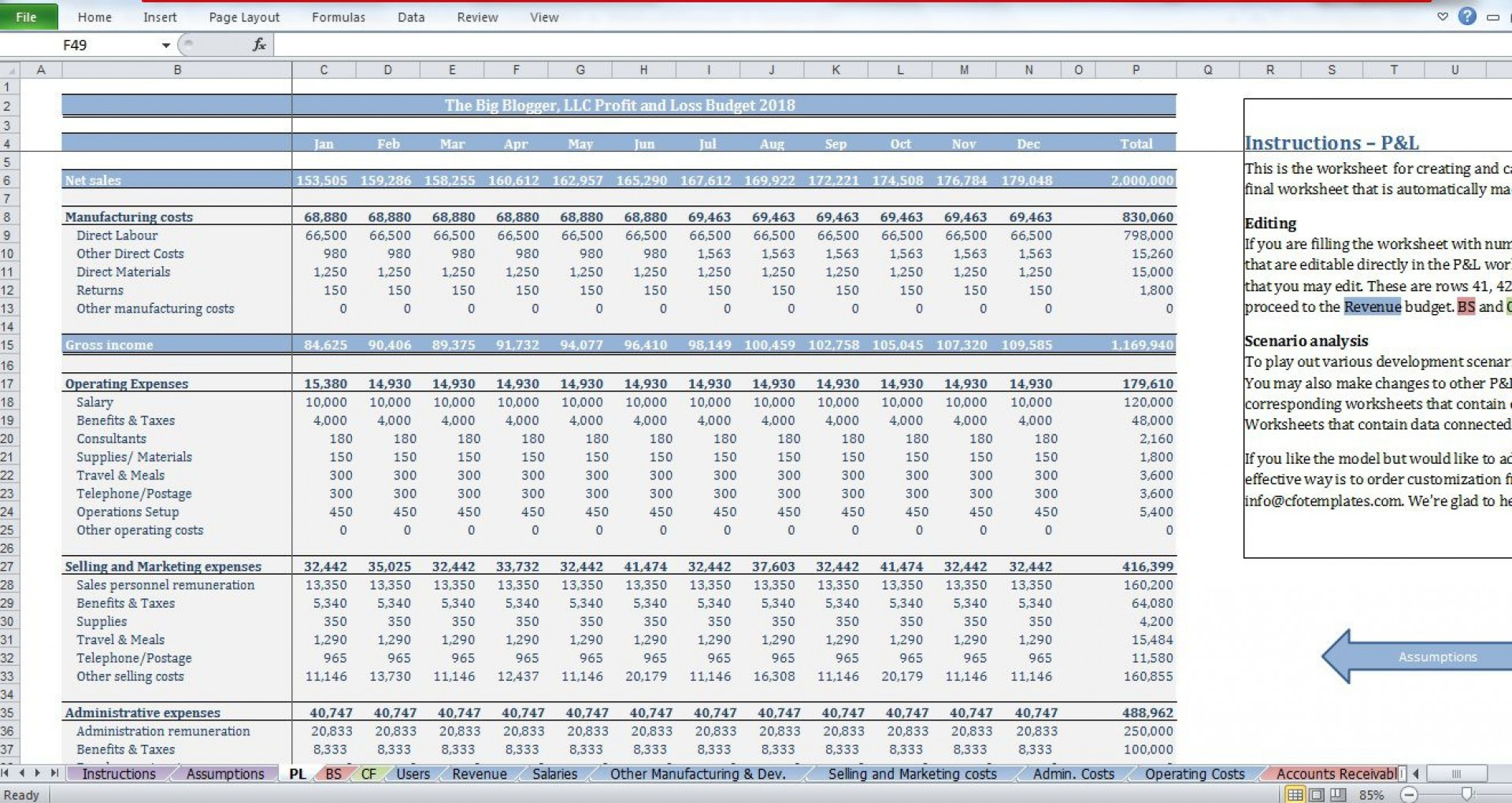006 Simple Start Up Budget Template Sample  Busines Pdf Free Startup Excel Capital1920