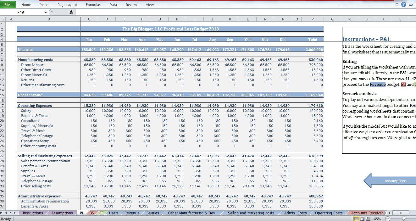 006 Simple Start Up Budget Template Sample  Busines Pdf Free Startup Excel CapitalFull
