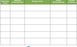 006 Simple Strategy Communication Plan Template High Def  Internal And Action Example