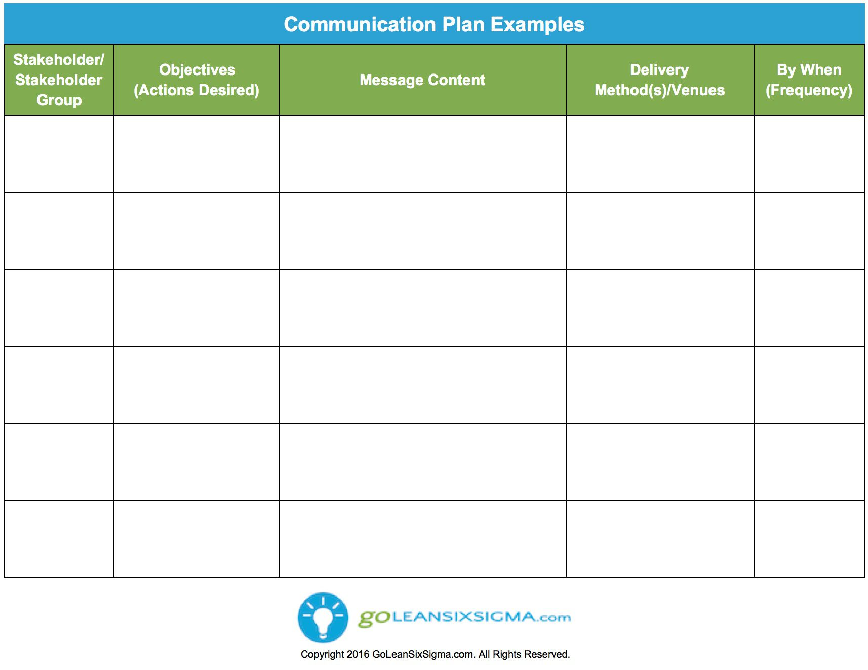 006 Simple Strategy Communication Plan Template High Def  Internal And Action Example SampleFull