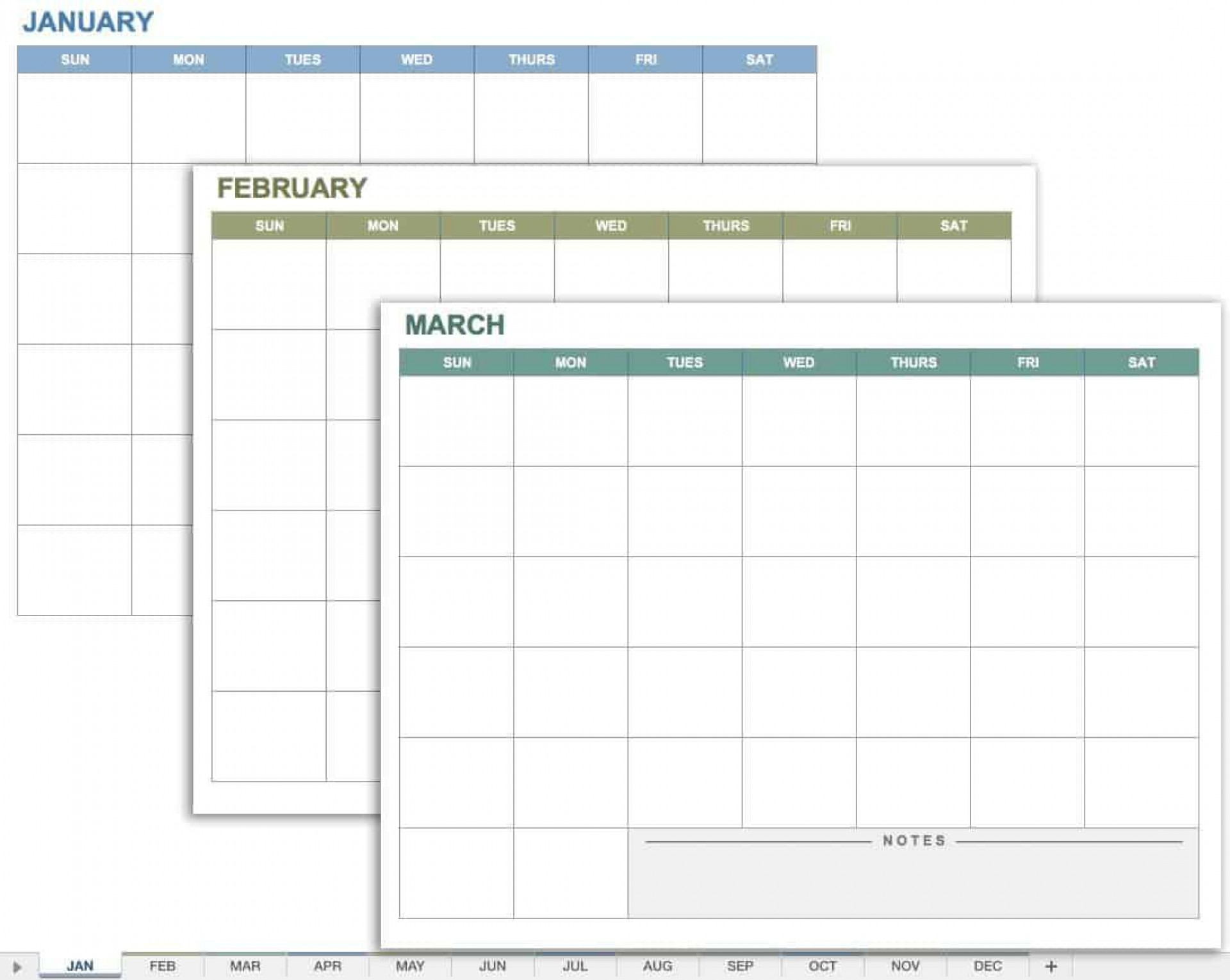 006 Singular Blank Monthly Calendar Template Google Doc High Definition  Docs1920