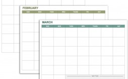 006 Singular Blank Monthly Calendar Template Google Doc High Definition  Docs