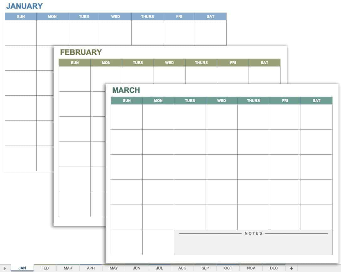 006 Singular Blank Monthly Calendar Template Google Doc High Definition  DocsFull