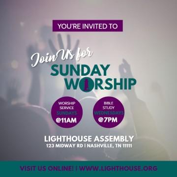006 Singular Church Flyer Template Free Printable Idea  Event360