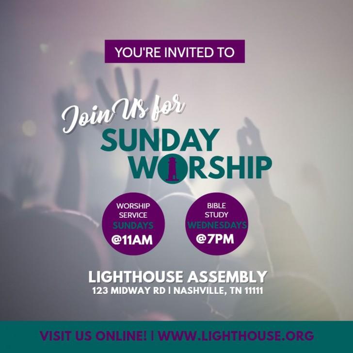006 Singular Church Flyer Template Free Printable Idea  Event728