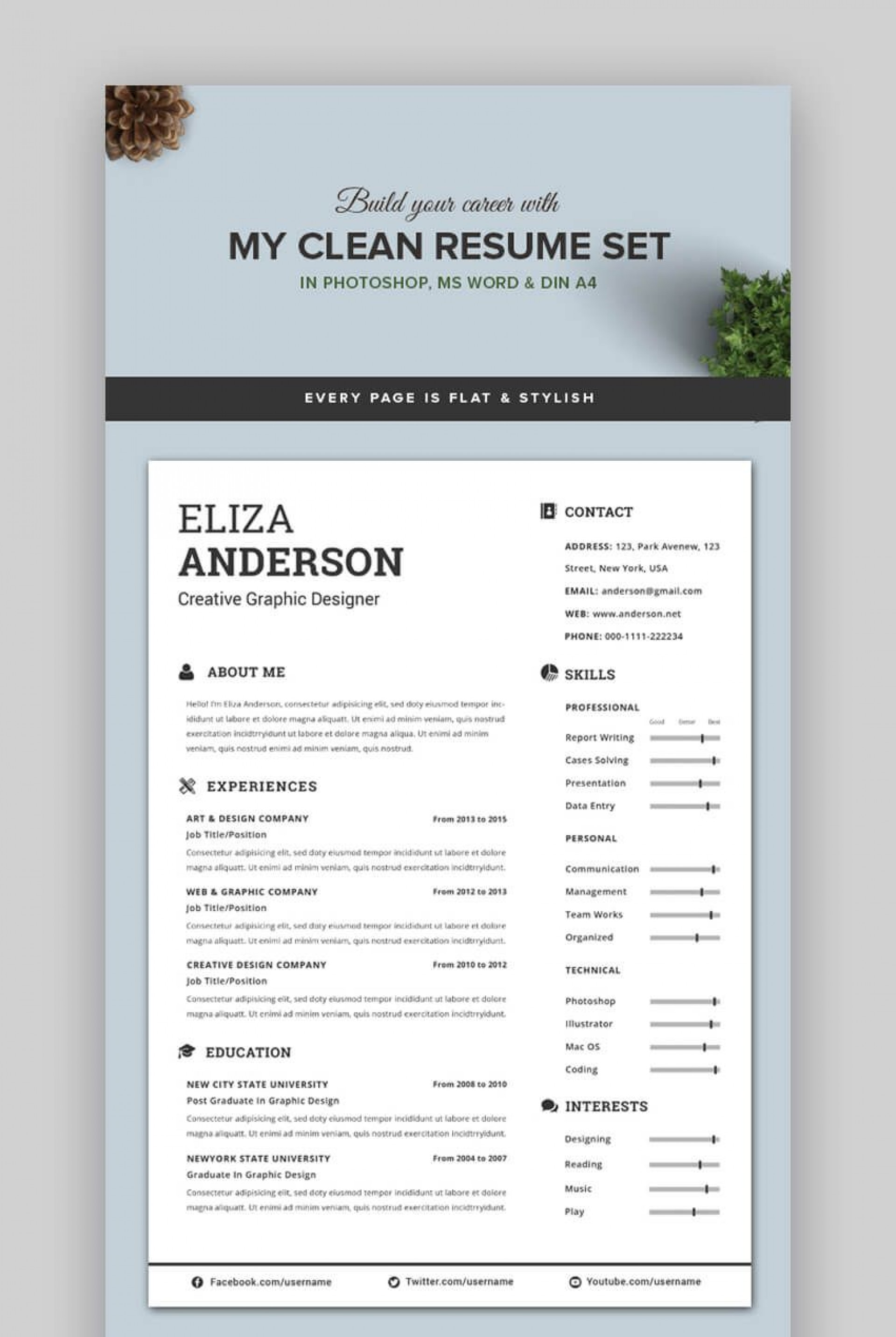 006 Singular Eye Catching Resume Template Highest Quality  Microsoft Word Free Download Most1920