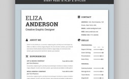 006 Singular Eye Catching Resume Template Highest Quality  Microsoft Word Free Download Most