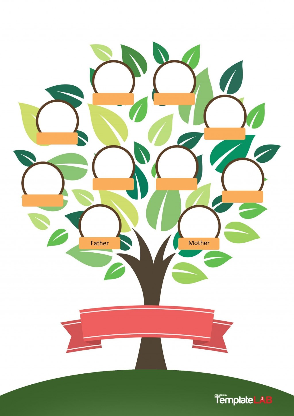 006 Singular Family Tree Template Word Free Download Sample Large