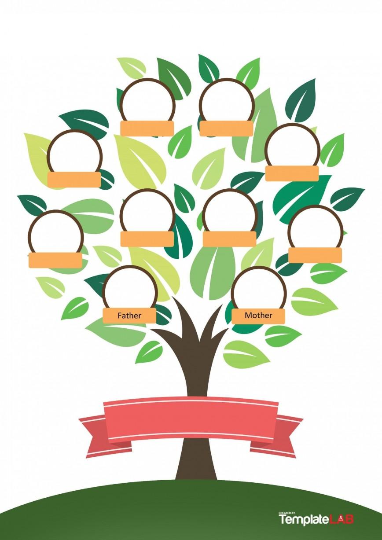006 Singular Family Tree Template Word Free Download Sample