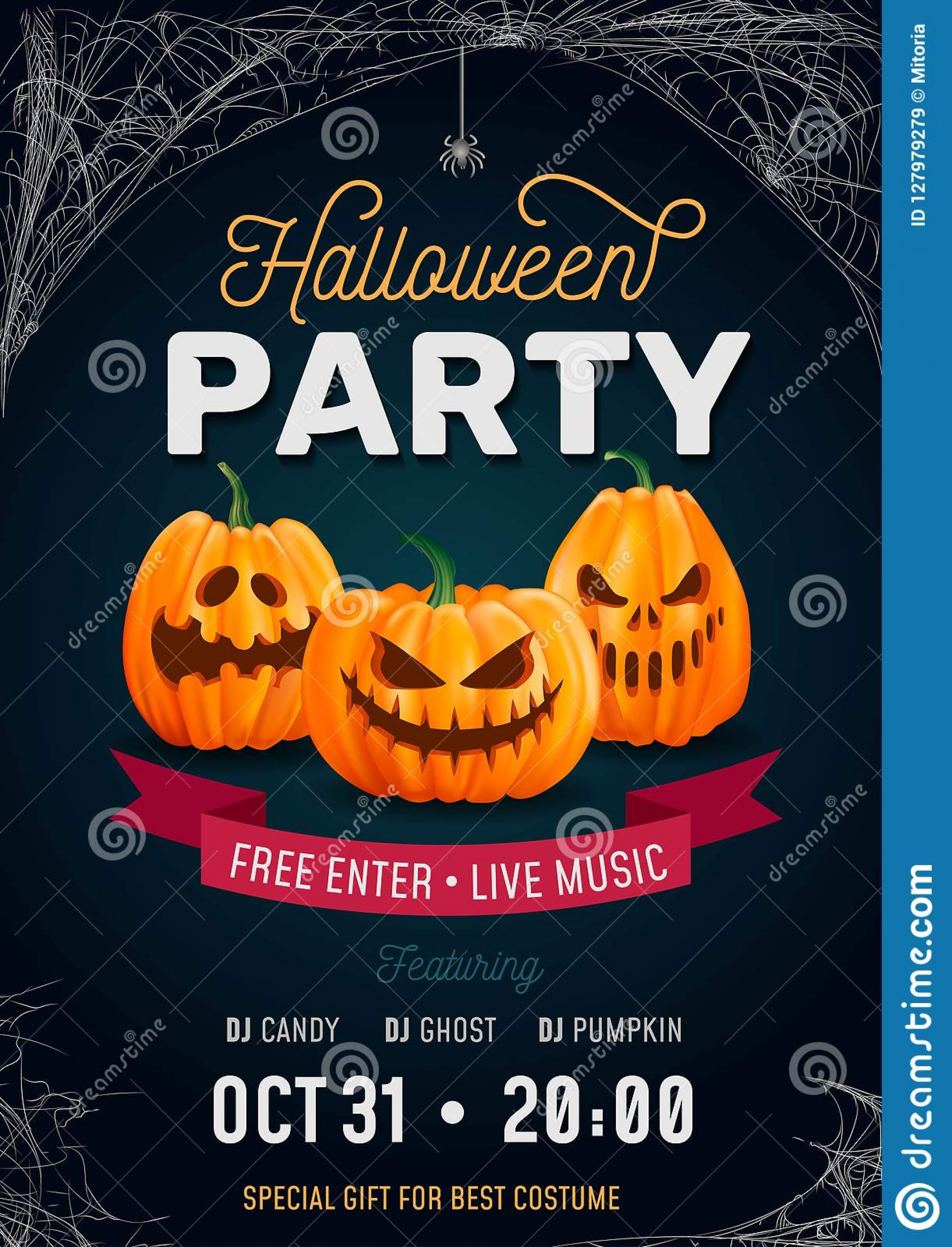 006 Singular Free Halloween Party Invitation Template Design  Printable Birthday For Word Download1920